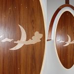 Customized teak inlaid designs