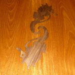 Teak sea horse inlays